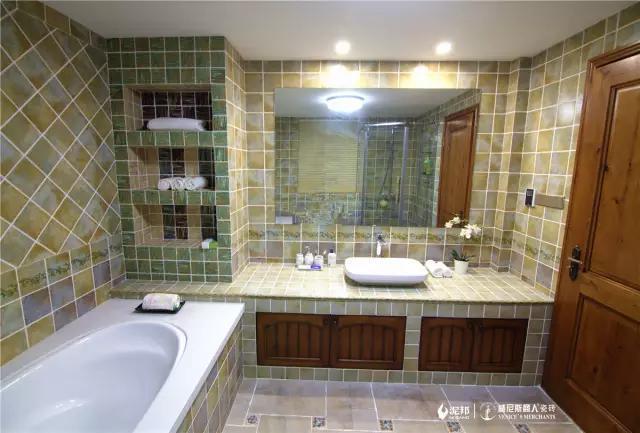 瓷砖浴室柜,让装修更有个性