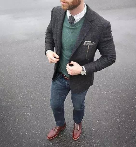 男士皮鞋怎样搭配牛仔裤?