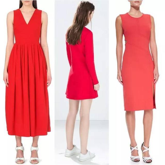 什么颜色的鞋子与红色裙子最搭配?