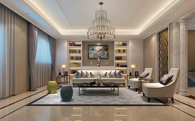 美式风格别墅客厅怎么装修设计?