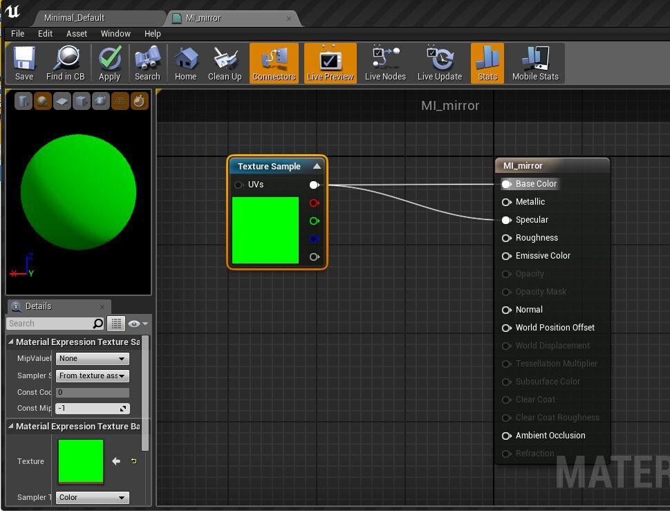 UE4蓝图案例:制作实时反射镜面材质 UE4教程 第9张