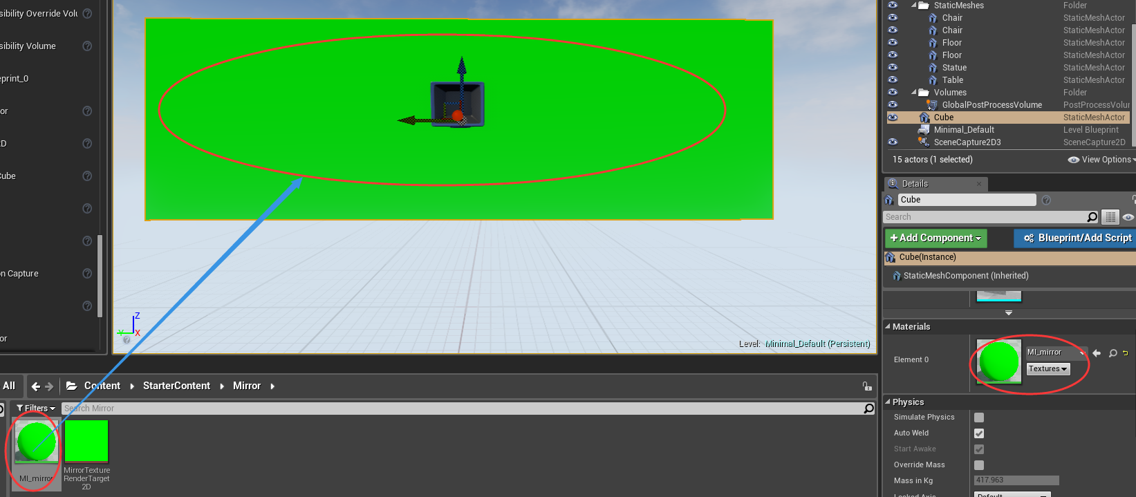 UE4蓝图案例:制作实时反射镜面材质 UE4教程 第10张