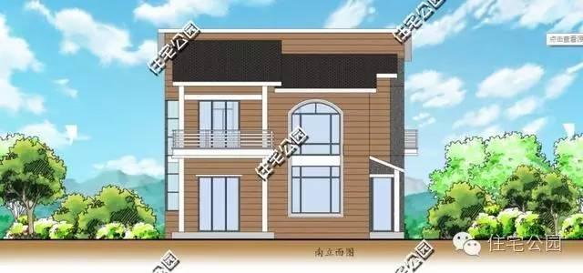 四间堂屋别墅图