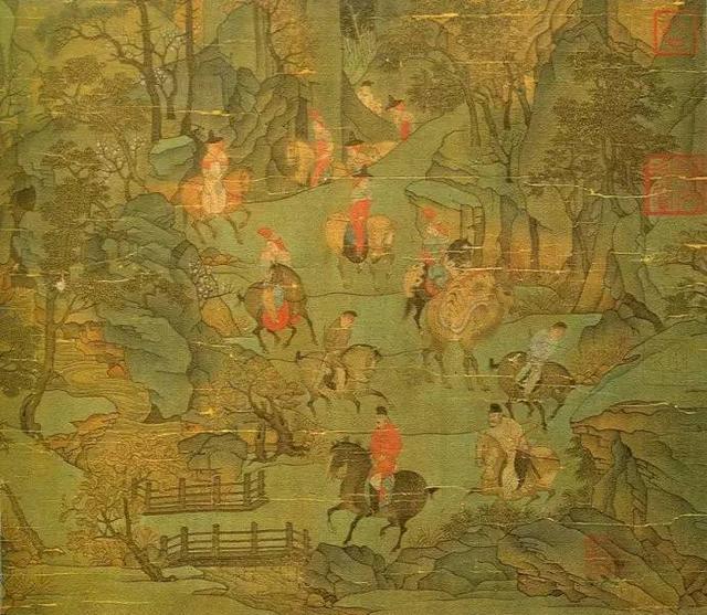 国画山石的画法图片