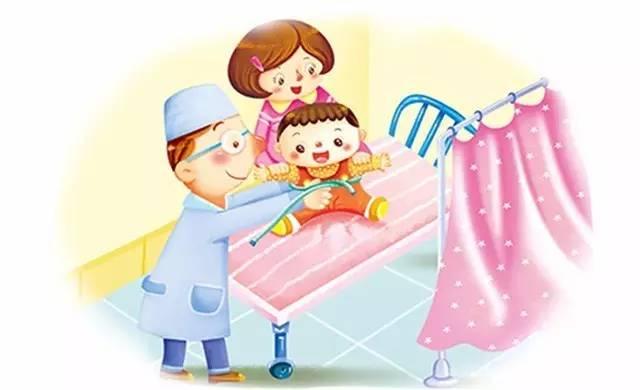 儿童体检卡通-宝宝臀纹不对称,小心髋关节有问题