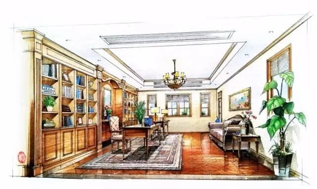 如何画好室内手绘效果图,非常值得室内设计爱好者学习
