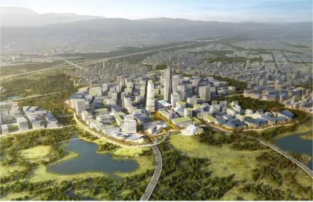 成都天府空港新城设计效果图-范锐平 以全球眼光国际标准推进天府国