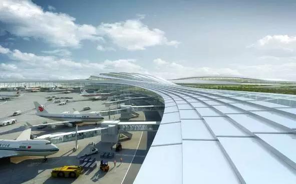 成都天府国际机场2020年通航,地铁高铁高速直达 炫图曝光图片