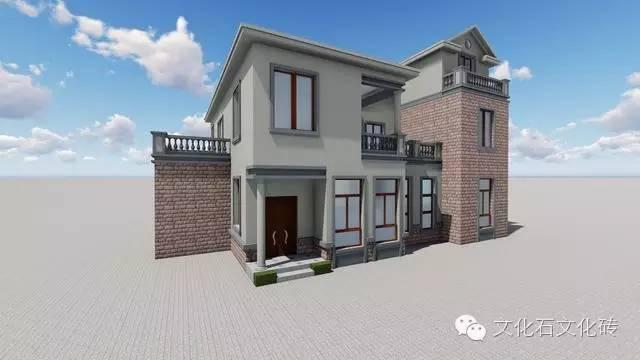 99 按别墅图纸造出来的房子,故乡石搭配的如何