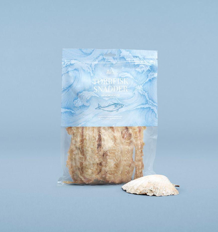 大海的馈赠-海鲜食品鱼肉干包装设计