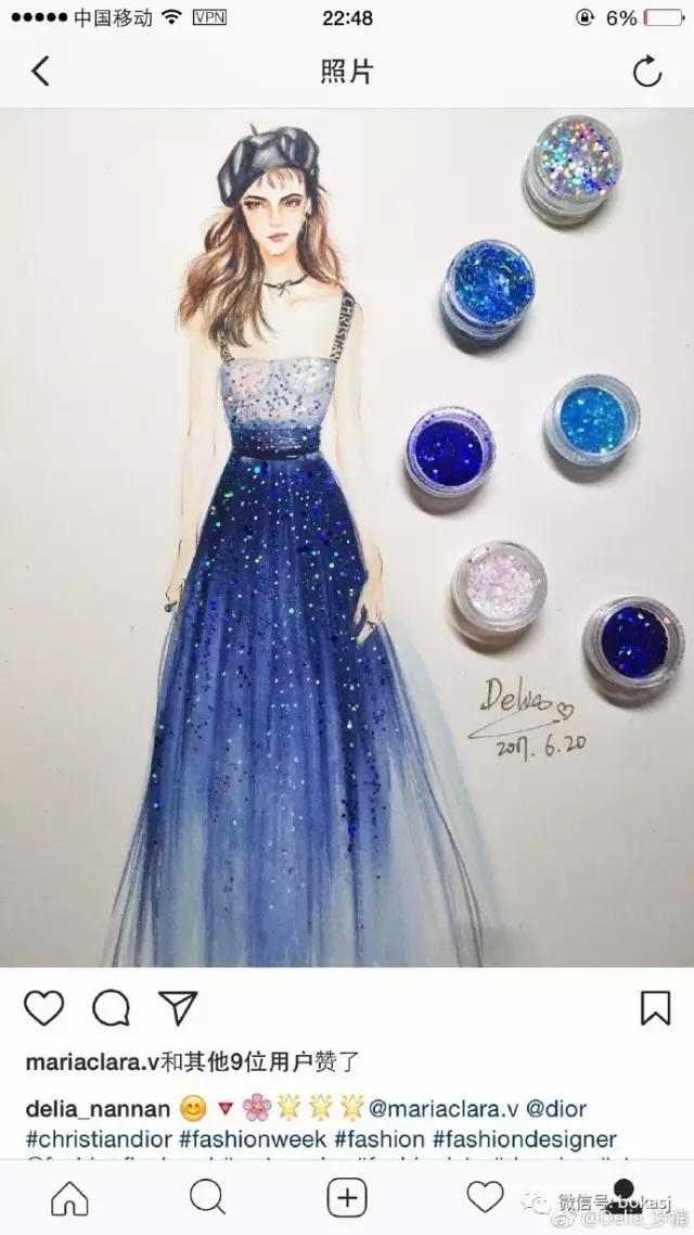 博咖服装手绘图:来自星星的你,太美了!_博咖服装设计