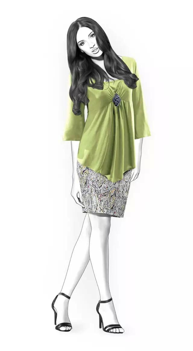 10款裙装款式图、制版图,拿回去改改就可以用了!
