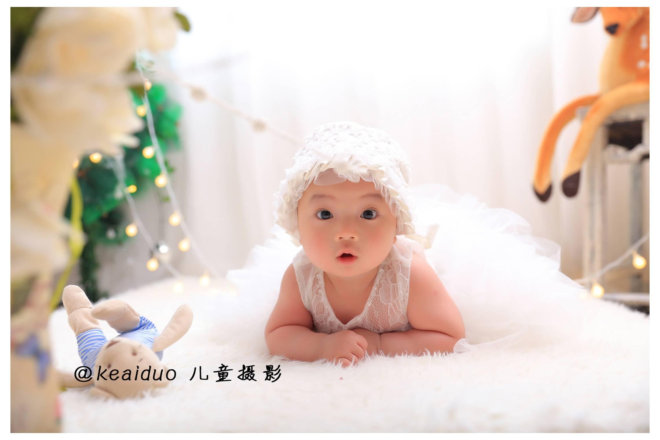 可爱多宝宝百天照技巧