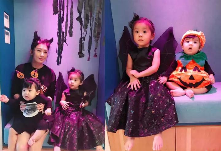 万圣节贾静雯女儿装扮可爱,而最爆红的却是她!