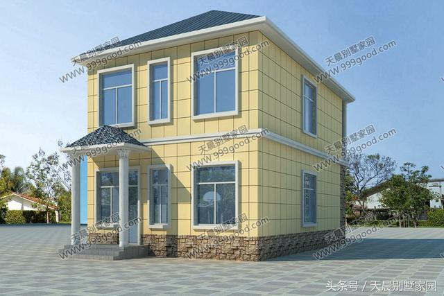 2套农村经济别墅,面宽不足10米!30万盖三层还是25万盖
