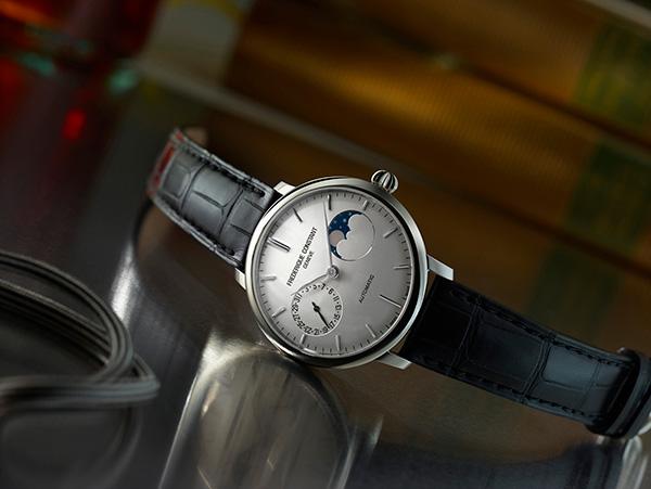 康斯登(Frederique Constant)全新超薄月相自家机芯腕表