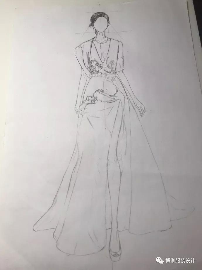 博咖服装设计分享时刻到了:今天分享来自微博@lorrainexsh的手绘稿