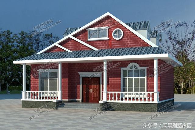 别墅二层采用小阁楼的形式,户主注重空间的交流,中间是大面积的活动