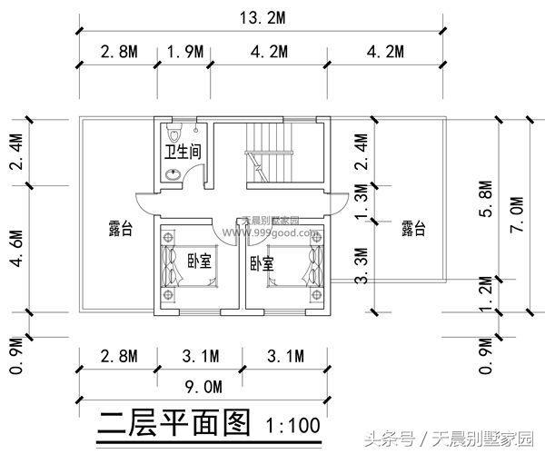 进深7米也能盖别墅?上海农村一层半别墅,老虎窗,露台一个不少