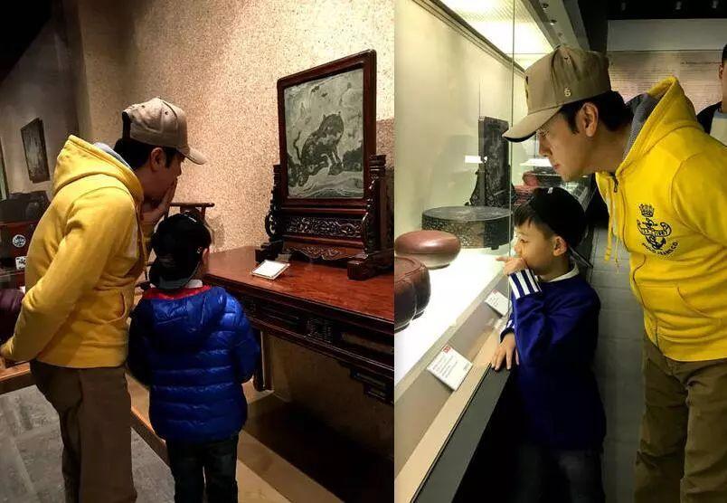 蔡国庆携子看展览培养美育情趣,用艺术抚平心理障碍