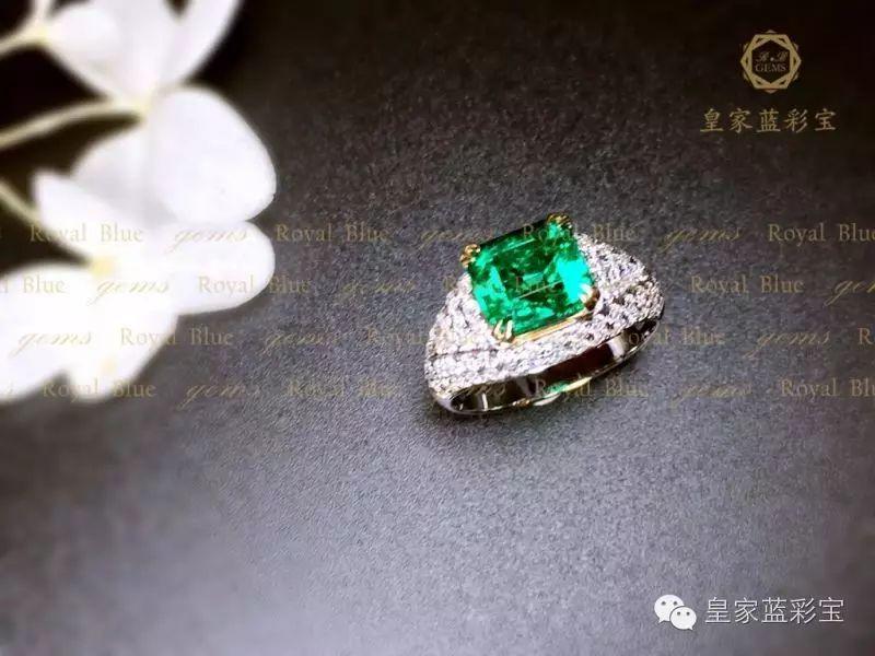【皇家蓝彩宝・高级定制】祖母绿戒指,就该豪镶!