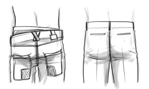 男性背部与臀部画法教程