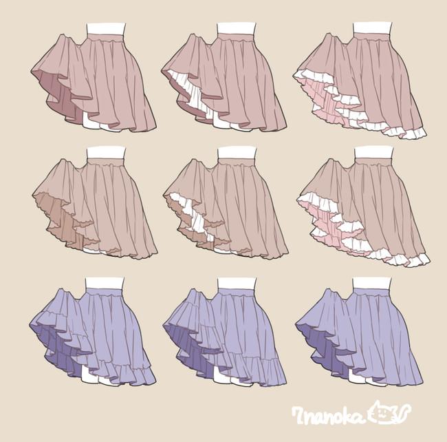 超可爱的裙子画法,赶紧学!