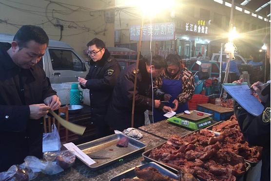 山东齐河县晏城食药监所对肉食加工小作坊进行专项抽检