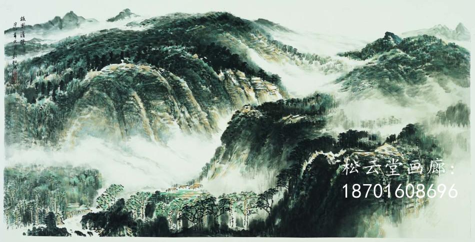 """并将西方画学中的""""焦点透视""""延引至他以后的中国山水画创作中."""