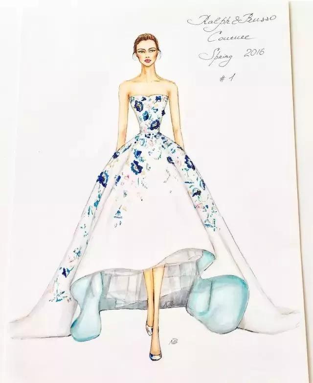 2018年婚纱礼服手绘图稿大全,款款都是精品!