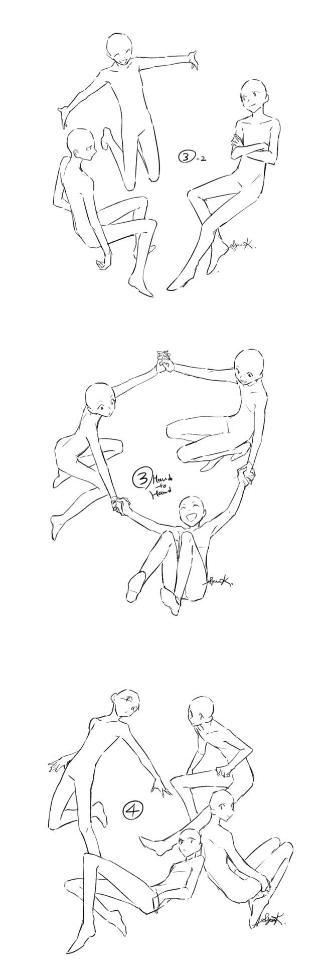 漫画人物构图参考,多种构图随意选
