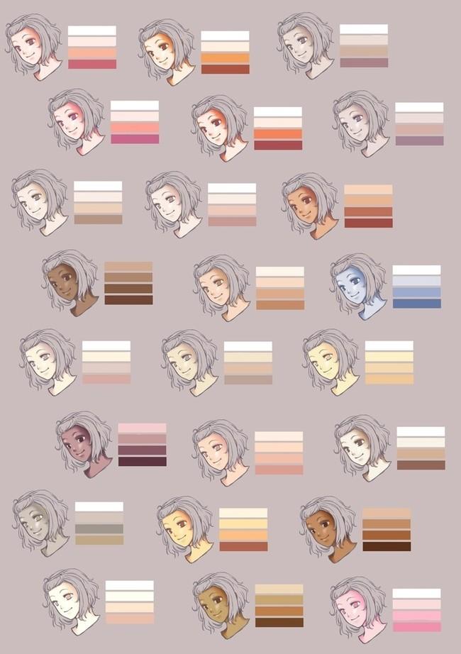漫画怎么上色?首先你得有这些配色板!