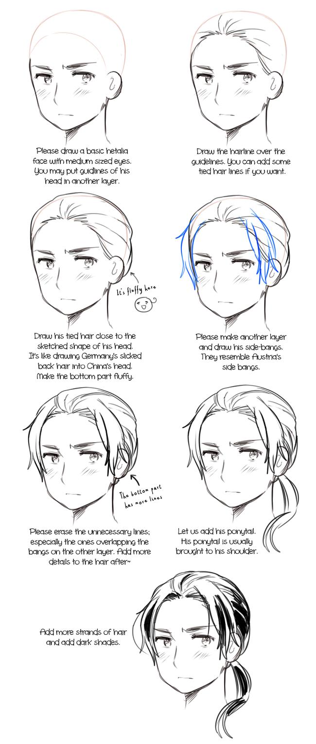 动漫人物五官与头发怎么画?来一波好素材!