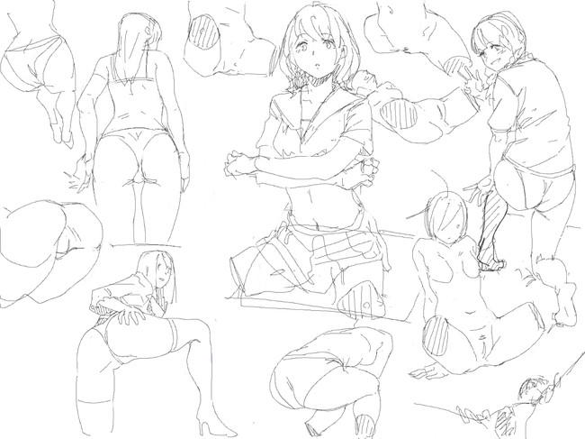 漫画人物女生动态参考,有点污!