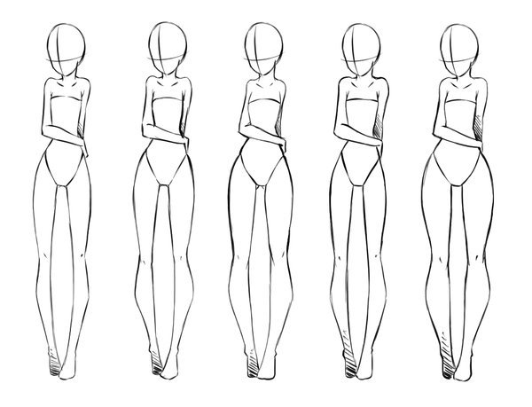 动漫人体腿型的画法参考,都是女性滴!