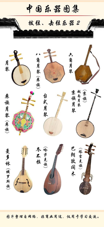 各类中国古代乐器参考,画古风必备材料