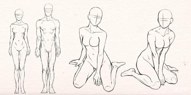 """动漫人物坐姿的画法,竟然是""""鸭子坐"""""""