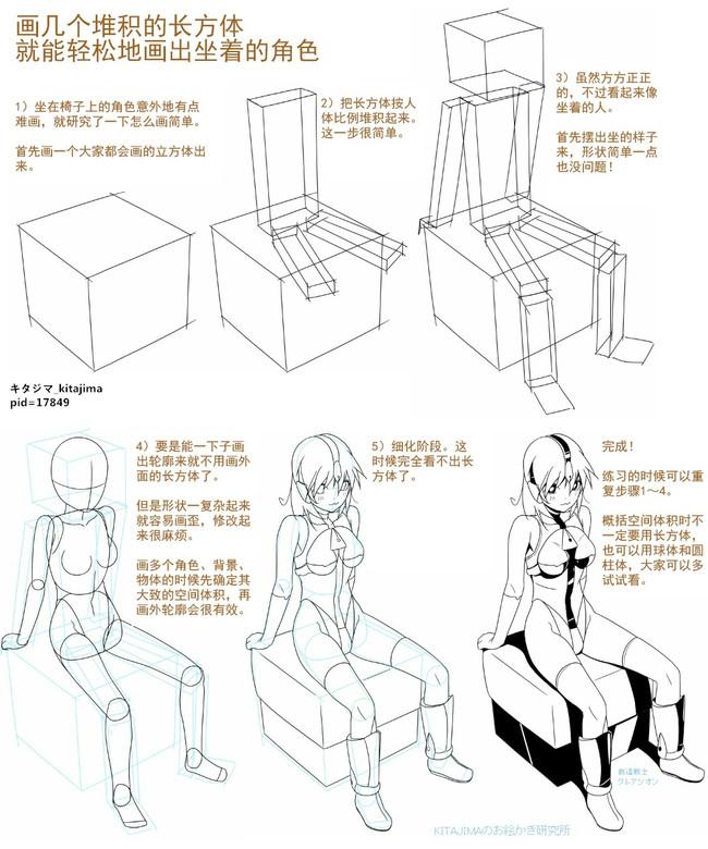 动漫人体透视绘画技法教程,很多角度的透视哦