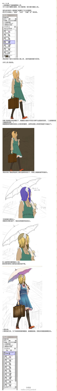 动漫场景背景绘画方法教程,很详细!