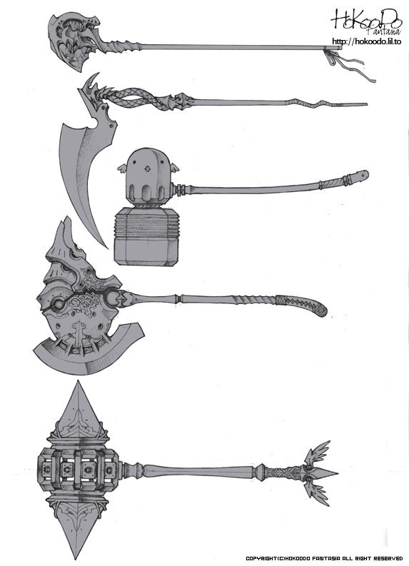 怎么画武器,多种武器的设计参考