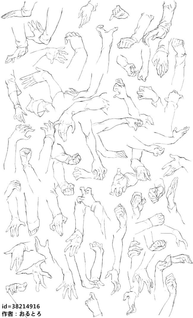 动漫人物手怎么画?多角度手的画法!