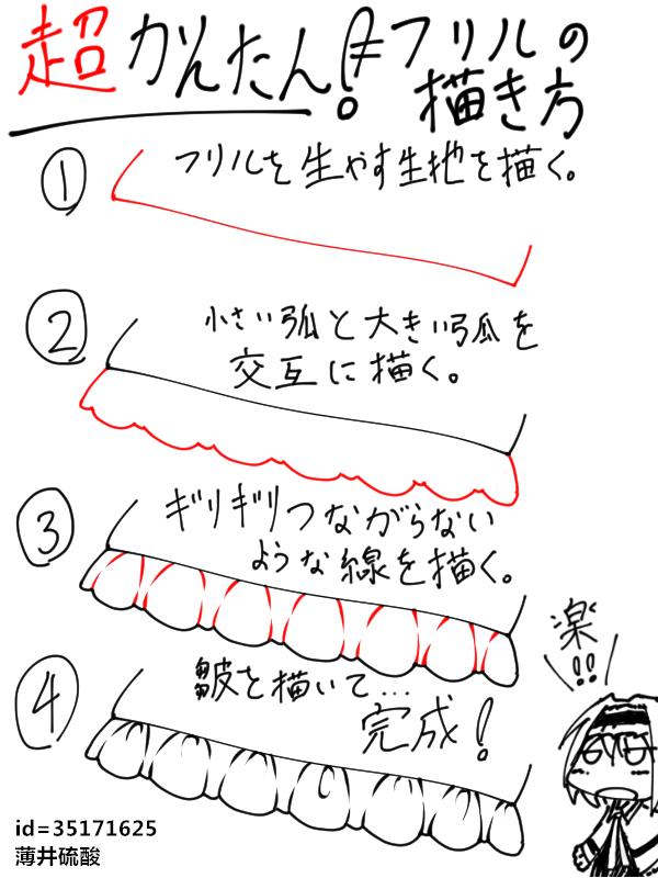 动漫绘画基础教程之裙子花边画法