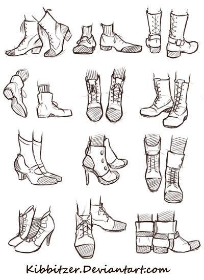 男生与女生鞋子的画法 轻微课二次元绘画专区