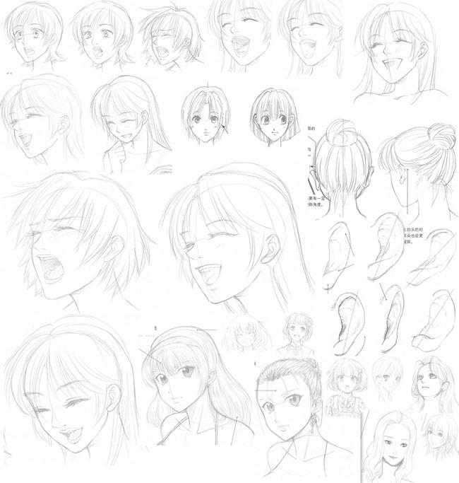 【推荐】动漫少女人物头发怎么画—轻微课漫画教学专区