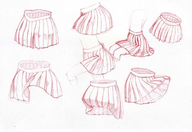 【推荐】动漫少女JK百褶裙绘制参考—轻微课在线学漫画