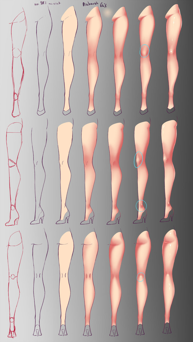 【推荐】人物腿部的绘画方法—轻微课在线学画画
