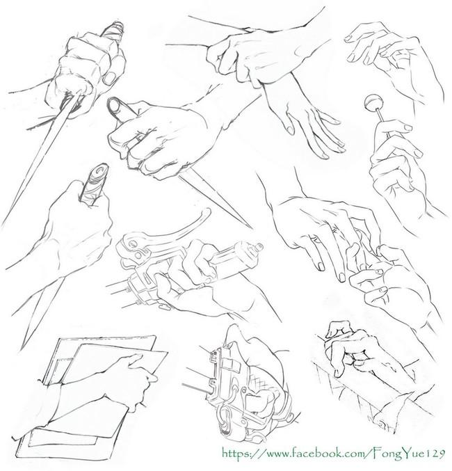 【推荐】人物的手怎么画—轻微课绘画在线学习专区