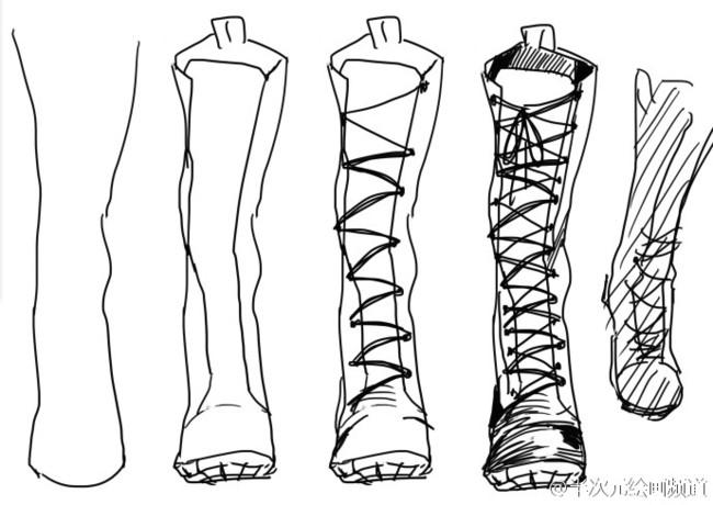 听说鞋子只要几笔就能画出来?真的假的啊,还有这种教程!