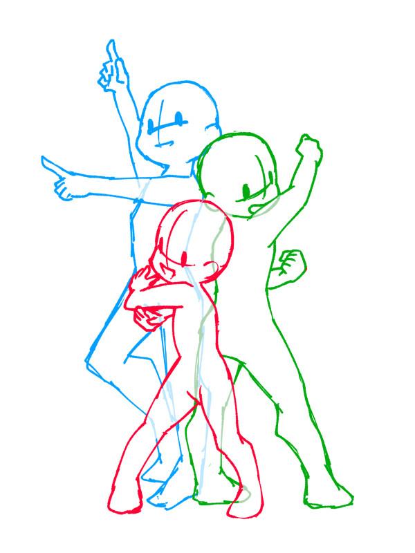 【推荐】Q版动漫人物动态姿势绘画参考—轻微课素材专区