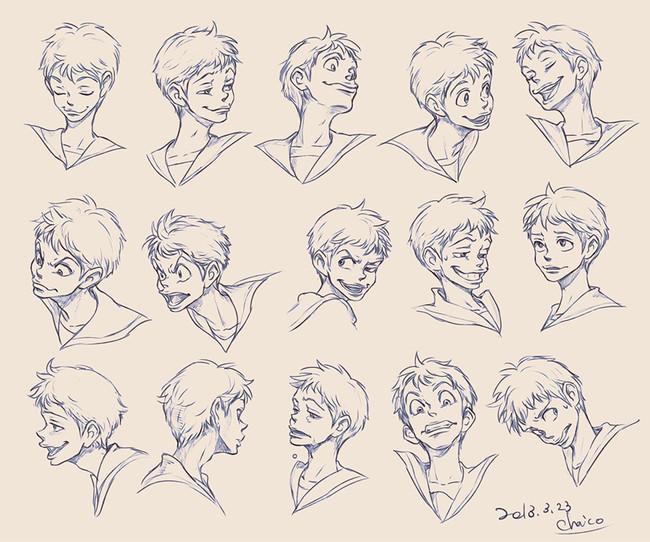 【推荐】动漫人物表情怎么画—轻微课绘画教程专区